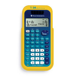 TEXAS INSTRUMENTS INC. 34MV/TKT TI-34 MultiView Scientific Calculators EZ Spot Yellow Teacher Kit Pack of 10