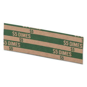 MMF INDUSTRIES 216020002 Flat Coin Wrappers, Dimes, $5, 1000 Wrappers/Box by MMF INDUSTRIES