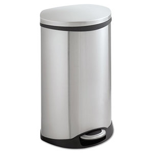 Safco Products 9903SS Step-On Medical Receptacle, 12.5gal, Stainless Steel by SAFCO PRODUCTS