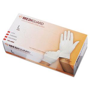 Medline Industries, Inc MG1206 MediGuard Powdered Latex Exam Gloves, Large, 100/Box by MEDLINE INDUSTRIES, INC.