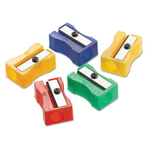 ACME UNITED CORPORATION ACM15993 One-Hole Manual Pencil Sharpeners, Red/Blue/Green/Yellow, 4w x 2d x 1h, 24/Pack by ACME UNITED CORPORATION