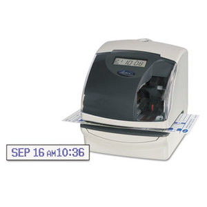 Lathem Time Company 5000EP 5000E Plus Electronic Time Recorder/Document Stamp/Numbering Machine, Cool Gray by LATHEM TIME CORPORATION