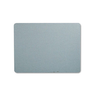 Oval Office Fabric Bulletin Board, 48 x 36, Light Blue by QUARTET MFG.