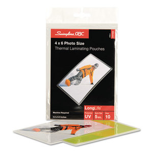 Swingline 3747322 Fusion LongLife Premium Laminating Pouches, 5 mil, 4 1/4 x 6-5/16, 10/Pack by SWINGLINE