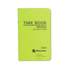 ACCO Brands Corporation WS802A Foreman's Time Book, Week Ending, 4-1/8 x 6-3/4, 36-Page Book by WILSON JONES CO.