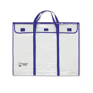 "Carson-Dellosa Publishing Co., Inc 5638 Bulletin Board Storage Bag, Blue/Clear, 30"" x 24"" by CARSON-DELLOSA PUBLISHING"