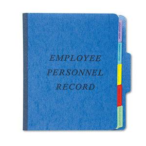 Cardinal Brands, Inc SER-1-BL Personnel Folders, 1/3 Cut Top Tab, Letter, Blue by ESSELTE PENDAFLEX CORP.