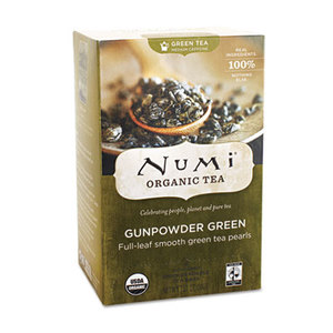 Numi, LLC 10109 Organic Teas and Teasans, 1.27oz, Gunpowder Green, 18/Box by NUMI