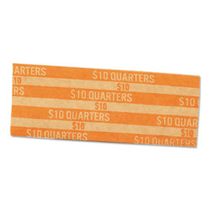 """1000 Wrappers//Box MMF Industries - Can be filled by hand or machine. $10 Color-coded MMF Industries Products Pop-Open Flat Paper Coin Wrappers - Pop-open/"""" feature Sold As 1 Box Quarters"""