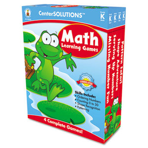 Carson-Dellosa Publishing Co., Inc 140050 Math Learning Games, Four Game Boards, 2-4 Players, Grade K by CARSON-DELLOSA PUBLISHING