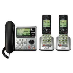 VTech Holdings, Ltd CS6649-2 CS6649-2 Digital Answering System, Corded Base and 2 Cordless Handsets by VTECH COMMUNICATIONS