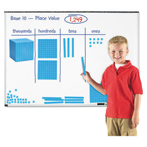 "LEARNING RESOURCES/ED.INSIGHTS LER6366 Giant Magnetic Base Ten Set, 6.75""L x 6.75""H, Blue by LEARNING RESOURCES"