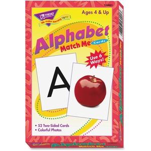 "TREND ENTERPRISES, INC. T58001 Alphabet Match Me Flash Cards, 3""x3-7/8"", 6 And Up by Trend"
