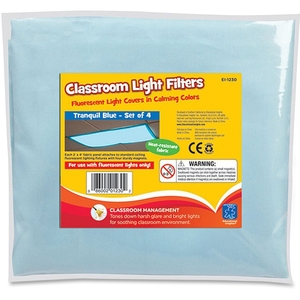 EDUCATIONAL INSIGHTS 1230 Classroom Light Filters - Tranquil Blue - Set of 4 by Educational Insights