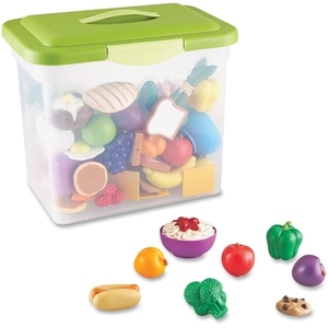 LEARNING RESOURCES/ED.INSIGHTS LER9723 Set,Food,Classrm Play by New Sprouts