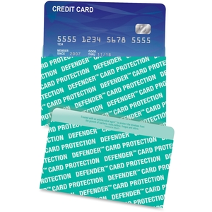 QUALITY PARK PRODUCTS 50040 Credit Card Sleeve, RFID Blocking, 10/PK, Green by Quality Park