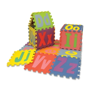 "The Chenille Kraft Company 4491 Mat, Puzzle, Alphabet,Upper/Lower Case,26 Pcs,10""x10"",Ast by ChenilleKraft"
