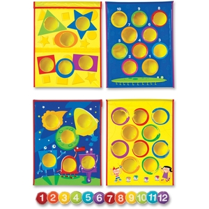 LEARNING RESOURCES/ED.INSIGHTS LER1047 Get the party started with 4 fun games the whole family can play together. Invites players to either create their own game or match colors, shapes or numbers by tossing bean bags through holes. Keeps kids healthy and challenges gross motor skills throug by Learning Resources