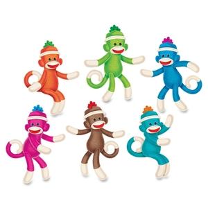 TREND ENTERPRISES, INC. T10608 Sock Monkey Solids Classic Accents, 36 Pieces, Multi by Trend