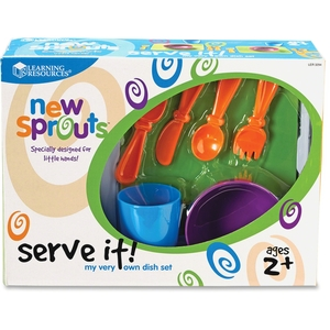 LEARNING RESOURCES/ED.INSIGHTS LER3294 New Sprouts Serve it! My Very Own Dish Set by New Sprouts