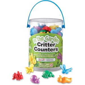 LEARNING RESOURCES/ED.INSIGHTS LER 3381 In the Garden Critter Counters by Learning Resources
