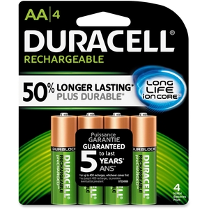 Procter & Gamble NLAA4BCD Duracell Rechargable Aaa 4 by Duracell