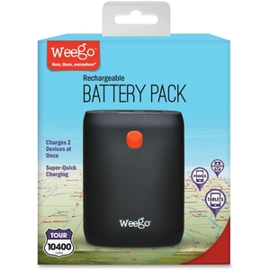 Paris Business Products BP104T Rechargeable Battery Pack Tour 10400, Black by Weego