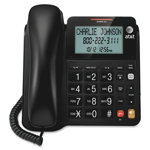 AT&T Corp CL2940 Speakerphone, Large Tilt Display, Corded, Black by AT&T
