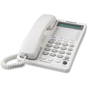 Panasonic KX-TS208W Speakerphone, w/ LCD Display/Dataport, 2-Line, White by Panasonic