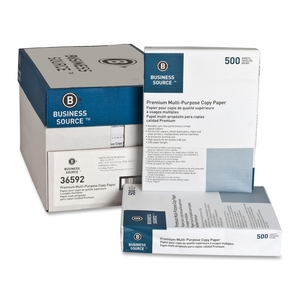 """Multipurpose Paper,20lb.,92 Bright,3HP,8-1/2""""x11"""",10RM/CT,WE by Business Source"""