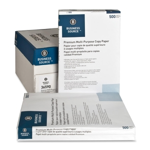 """Business Source 36590 Multipurpose Paper,92 Bright,20lb.,11""""x17"""",5RM/CT,White by Business Source"""