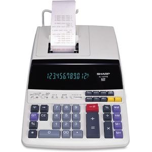 "Sharp Electronics EL1197PIII 12-Digit Calculator,2-Color Printing,8-1/2""x10-1/2""x2-3/4,WE by Sharp"