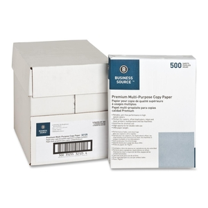 """Business Source 32125 Multipurpose Paper,20lb.,92 Bright,8-1/2""""x11"""",5RM/CT,White by Business Source"""