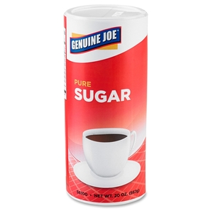 Genuine Joe 56100CT Sugar, Reclosable Lid, 20 Oz., Canister, 12/Ct by Genuine Joe