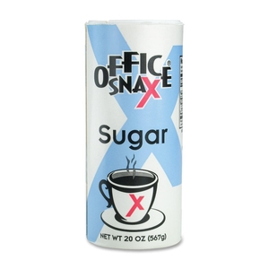 Office Snax 00019 Sugar Canister, 20 oz. by Office Snax