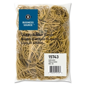 """Business Source 15743 Rubber Bands,Size 33,1 lb./BG,3-1/2""""x1/8"""",Natural Crepe by Business Source"""