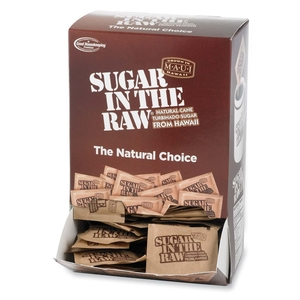 Sugar Foods Corporation 50319 Sugar In The Raw, Natural, 4.5 g Packs, Dispenser, 200/BX by Sugar Foods