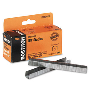 "Stanley-Bostitch Office Products BOS-STCR21153/8 B8 PowerCrown Premium Staples, 3/8"" Leg Length, 5000/Box by STANLEY BOSTITCH"