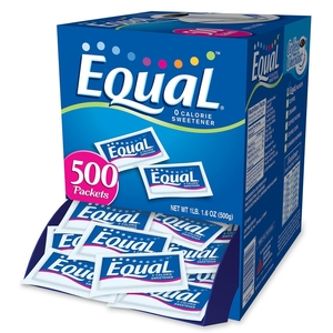 Merisant Company NUT20015448 Equal Sugar Substitute, 1.0 g Packets, 500/BX by Equal