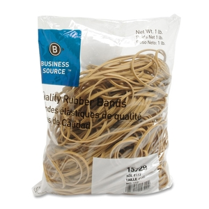 """Business Source 15729 Rubber Bands,Size 117B,1 lb. 200/Bag,7""""x1/8"""",Natural Crepe by Business Source"""