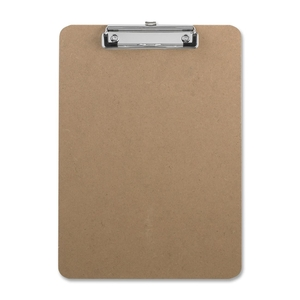 """Sparco Products 20894 Hardboard Clipboard,w/Rubber Grips,9""""x12-1/2"""",Brown by Sparco"""
