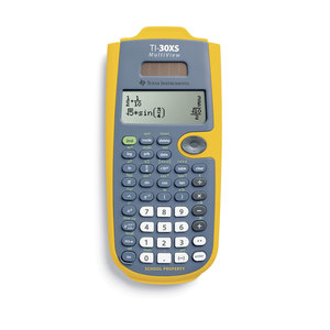 TEXAS INSTRUMENTS INC. 30XSMV/TKT TI-30XS MultiView 4-Line Scientific Calculator EZ Spot Yellow (Teacher Kit Pack of 10)