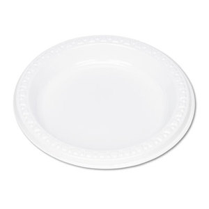 """Tablemate Products, Inc 6644WH Plastic Dinnerware, Plates, 6"""" dia, White, 125/Pack by TABLEMATE PRODUCTS, CO."""