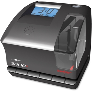 """Pyramid Time Systems 3600SS Time Clock/Document Stamp, 6-1/2""""x6-3/4""""x5-3/4"""", Black by Pyramid Time Systems"""