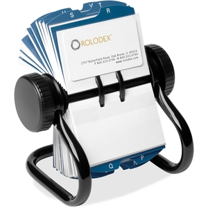 """Sanford, L.P. 67236 Rotary Business Card File, 400 Cap, 2-5/8""""x4"""",200 Sleeve, BK by Rolodex"""