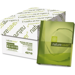 """Nature Saver 42710 Copy Paper, 20lb, GE 92 Bright, 8-1/2""""x11"""", 5000/CT, White by Nature Saver"""