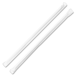"Genuine Joe 58925 Individually Wrapped Straws, 7-3/4"", 500/BX, Translucent by Genuine Joe"