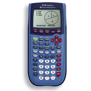 TEXAS INSTRUMENTS INC. 73/TPK TI-73 Explorer Graphing Calculators with fraction capabilities (Teacher Kit Pack of 10)
