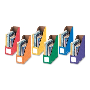 "Fellowes, Inc 3381901 Magazine File Folders, Ltr, 4""x11""x12-1/4"", 6/PK, Ast by Bankers Box"
