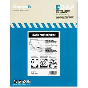 "Chartpak, Inc DAF8 Drafting Film, Permanent, Matte, 8-1/2""x11"",100/PK by Chartpak"